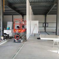 batiment industriel construction cloison