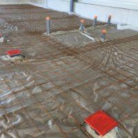 batiment industriel coulage sol
