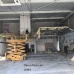 Aménagement de magasin démolition en cours