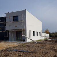 construction batiment pignon beton